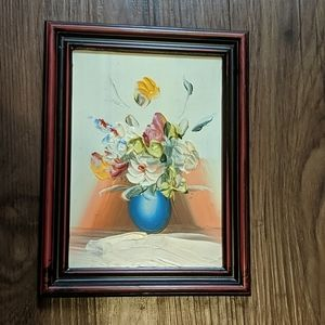 🎨Tiny framed Bric-a-brac painting 🎨